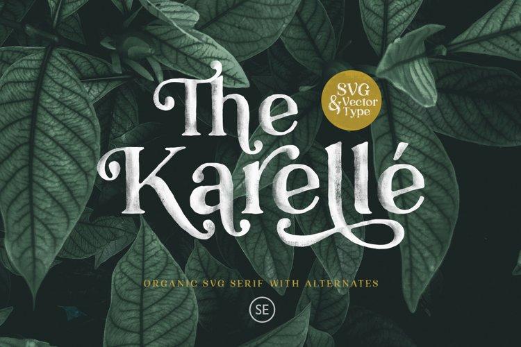 Karelle SVG - An Organic Serif example image 1
