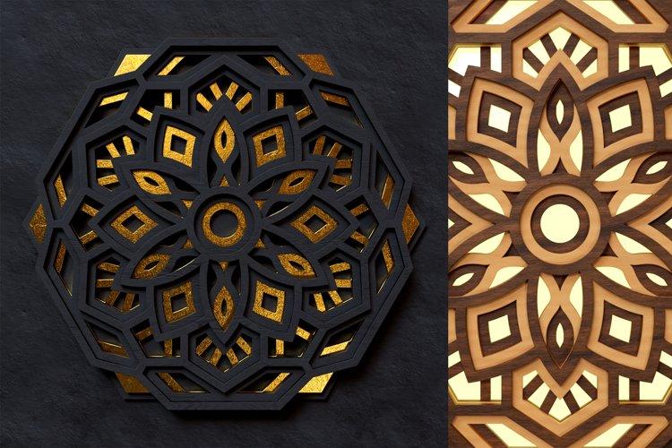 Mandala 3D Layered SVG Cut File - Laser Cutting example 7