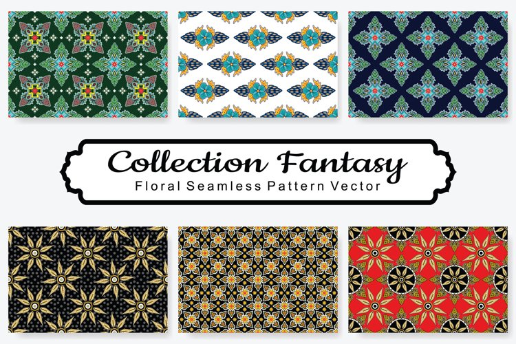 Set Of Fantasy Floral Vector Pattern Vol.6 example image 1