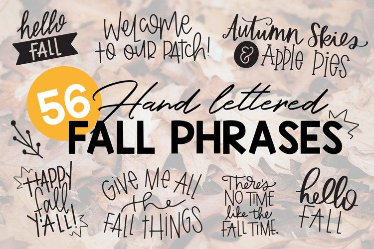 Fall Phrases Symbols Font