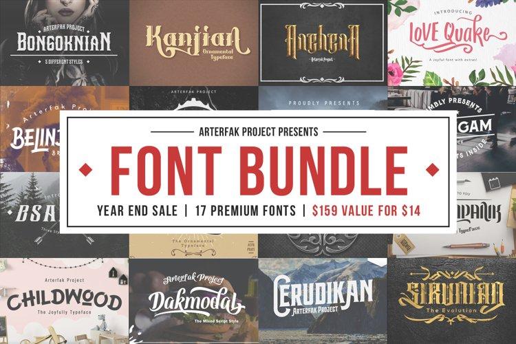 Arterfak Font Bundle II example image 1