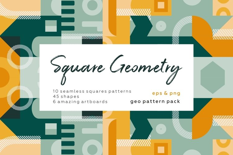 Square geometry pattern collection example image 1