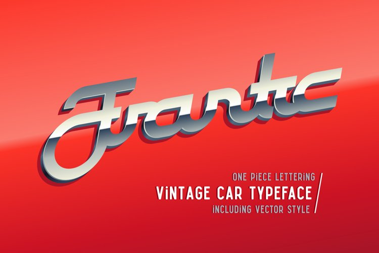 Frantic font & style example image 1