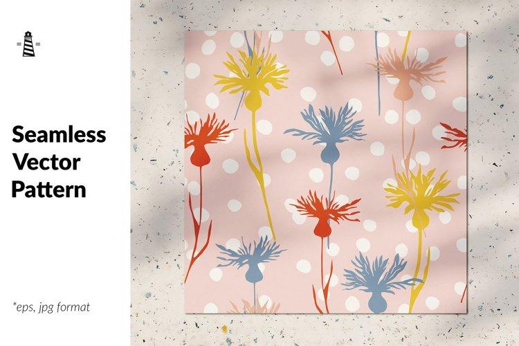 Cornflowers seamless pattern example image 1