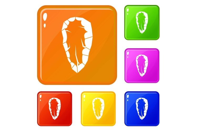 Old tool icons set vector color example image 1