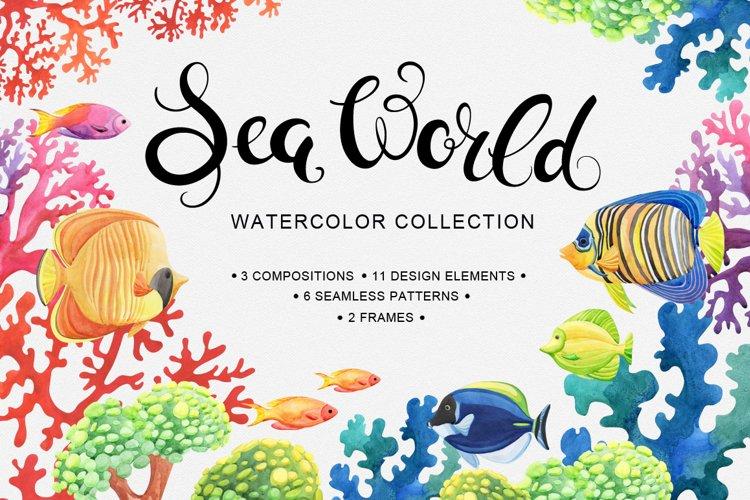 Sea World watercolor collection