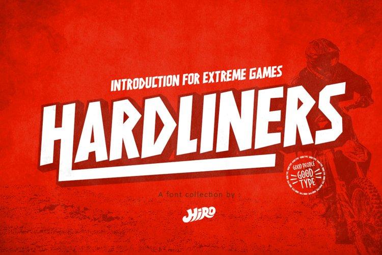 HARDLINERS - Extreme Sport Font example image 1