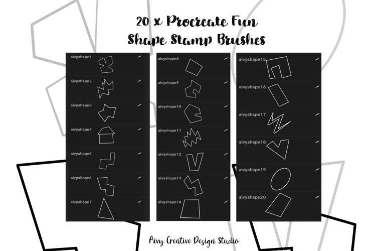 Procreate Fun Shape Stamp Brushes Set example 3