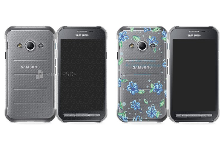 Samsung Galaxy X Cover 3 UV TPU Clear Mobile Case Mockup 201 example image 1