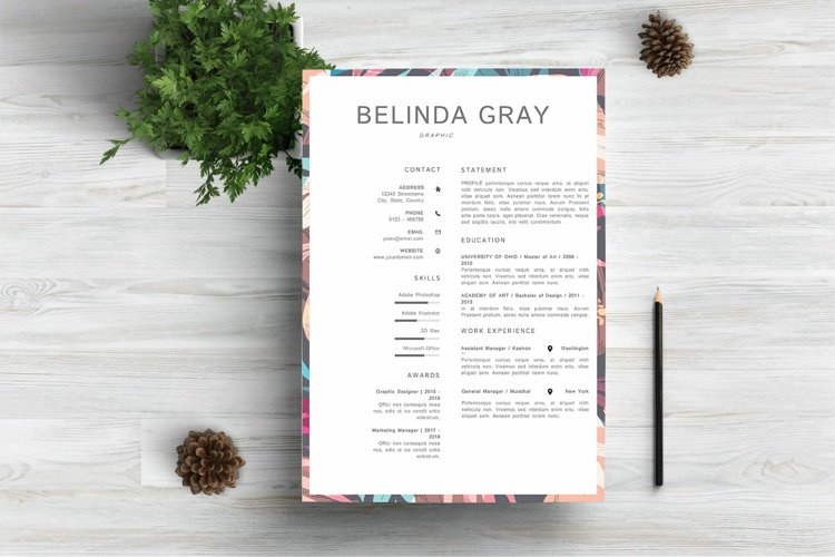 Modern Resume Template CV Design example image 1