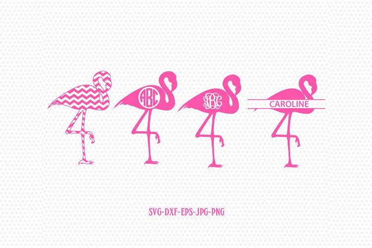 Flamingo monogram frame-Flamingo svg, pink Flamingo Monogram
