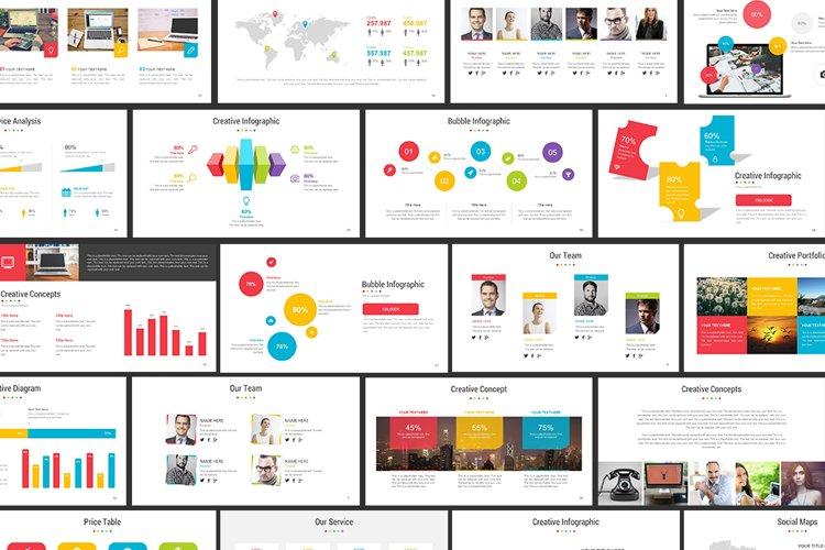 Full Color Powerpoint Template example image 1