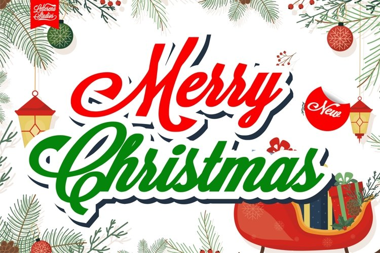 Merry Christmas - Sexy Bold Script Font example image 1