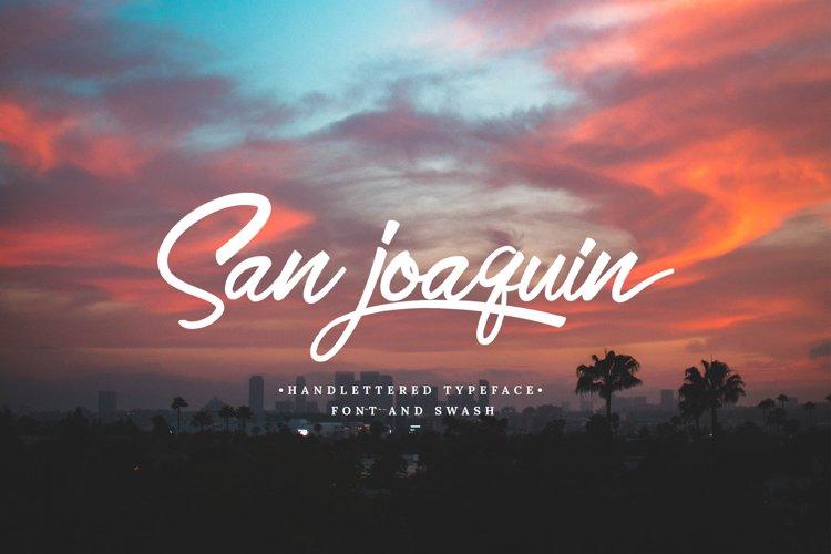 San Joaquin font example image 1