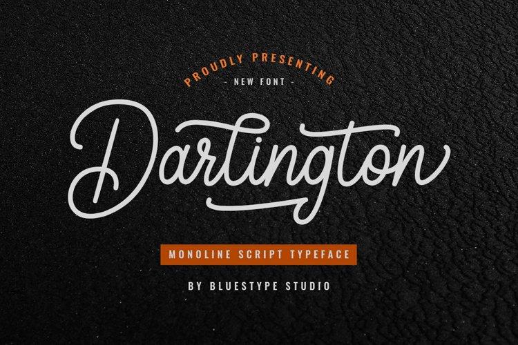 Darlington - Script Monoline Vintage
