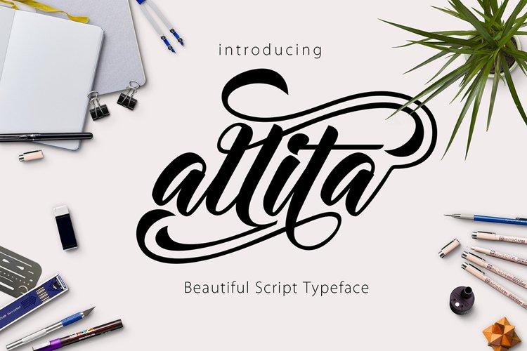 Allita Script example image 1