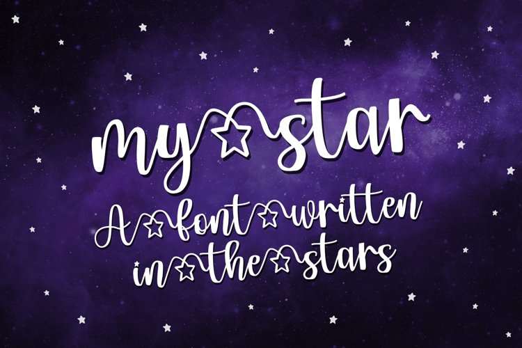 My Star - a font written in the stars