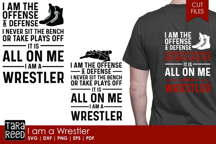 I am a Wrestler - Wrestling SVG and Cut Files for Crafters
