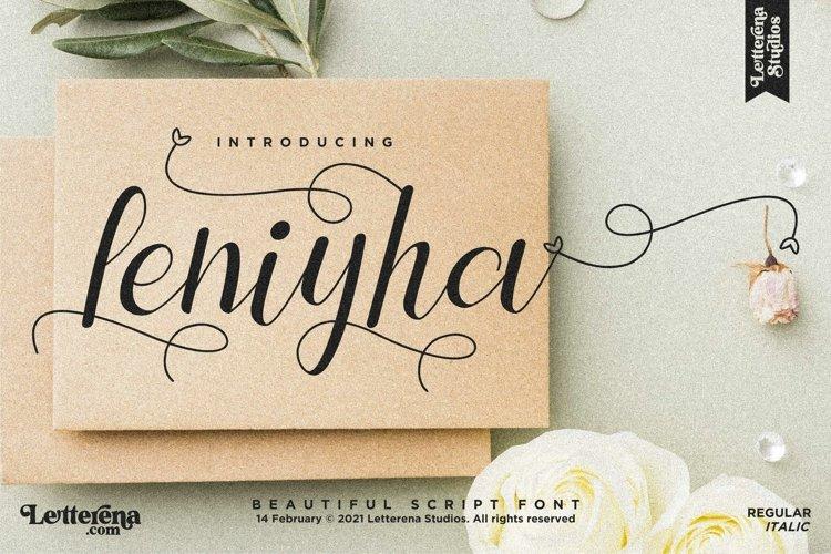 Leniyha - Beautiful Script Font example image 1