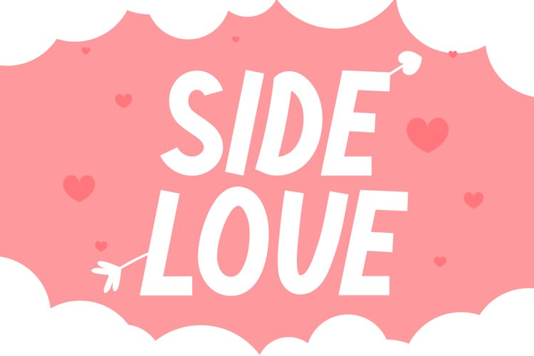 Side Love - Cute Display Font example image 1