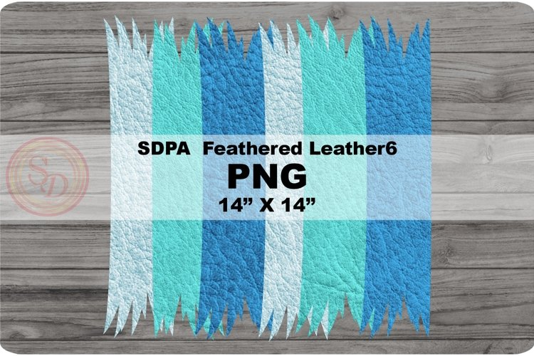 Sublimation Designs - background Feathered Leather6 example image 1