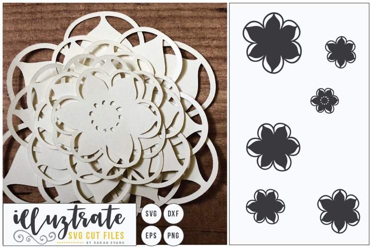 Paper Cut Flowers SVG Cut File - Paper Cutting Bundle DIY - Free Design of The Week Design1