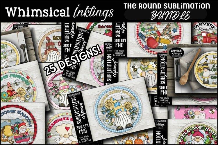 The Round Sublimation Clipart Bundle