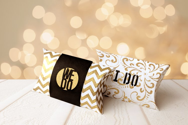 Wedding I Do We Do Pillow Box SVG Design example image 1