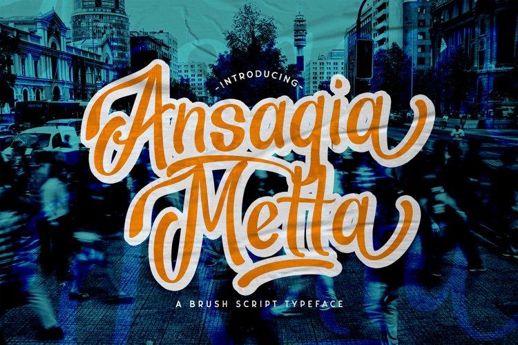 Ansagia Metta - Bold Script Font example image 1