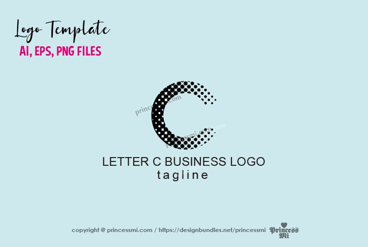 Letter C logo design, initial C business logo template example image 1
