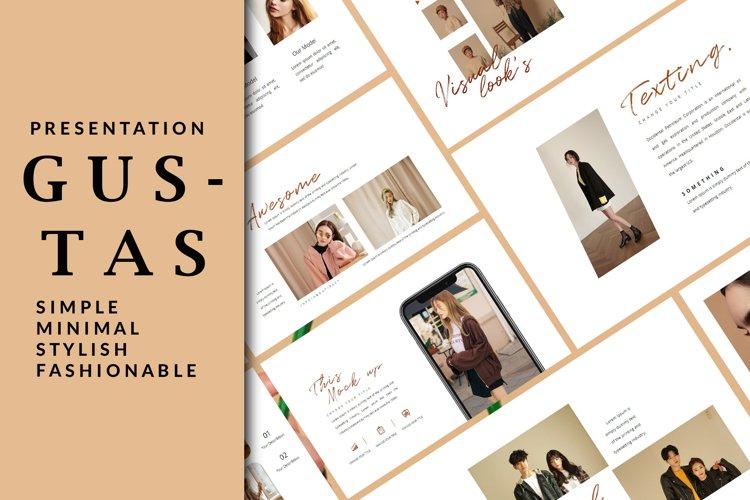 Gustas Fashion - Keynote Template example image 1