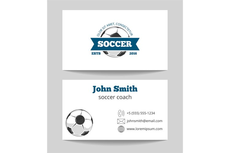 Soccer business card example image 1