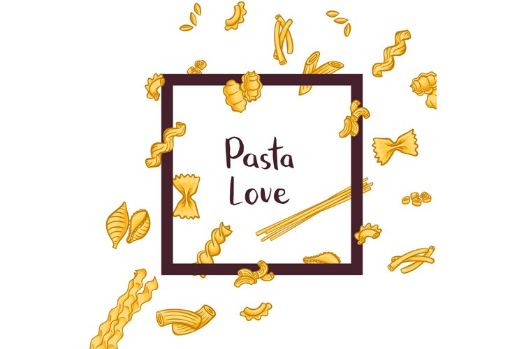 Vector of pasta types example image 1