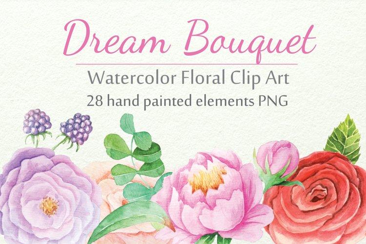 Watercolor Floral DIY Set - Free Design of The Week Font