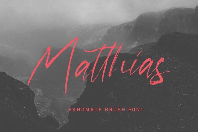 Matthias Brush Font
