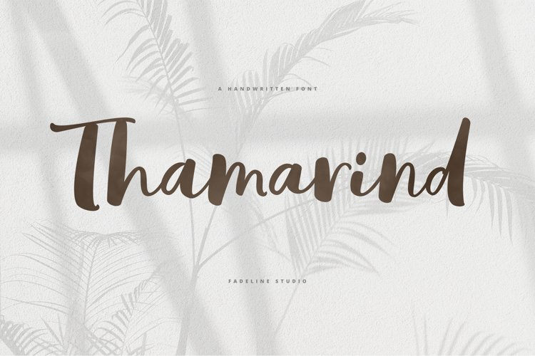 Thamarind Handwritten Font example image 1