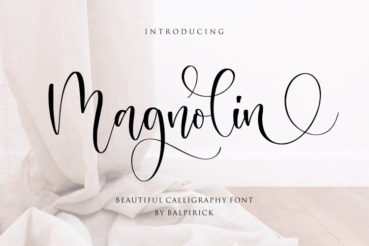 Magnolin Beautiful Calligraphy Font example image 1