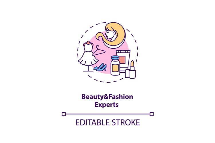 Beauty and fashion experts concept icon example image 1