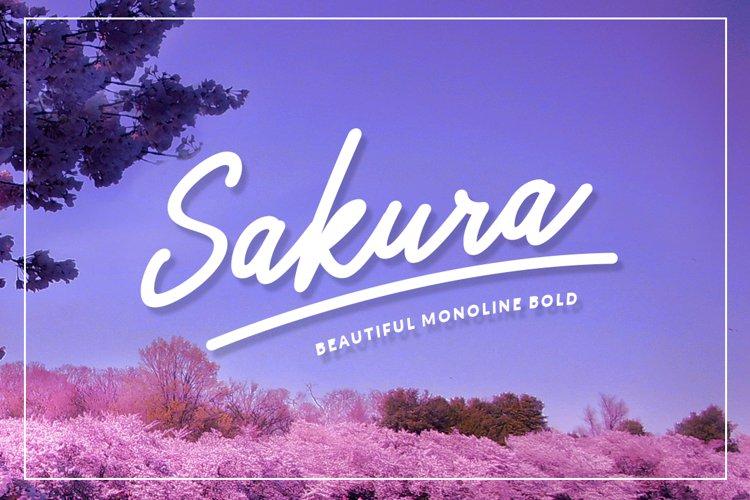 Sakura Bold Font Set example image 1