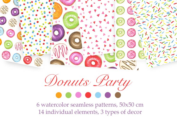 Watercolor Donuts Party example image 1