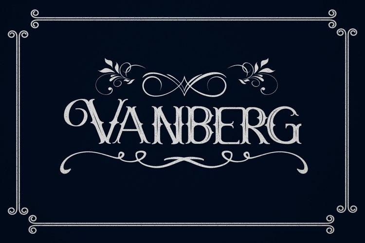 Vanberg Blackletter Font example image 1