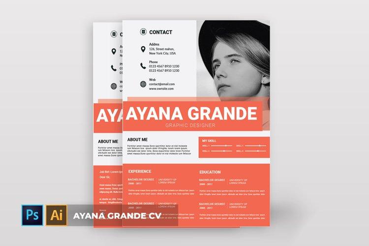 Ayana Grande | CV & Resume example image 1