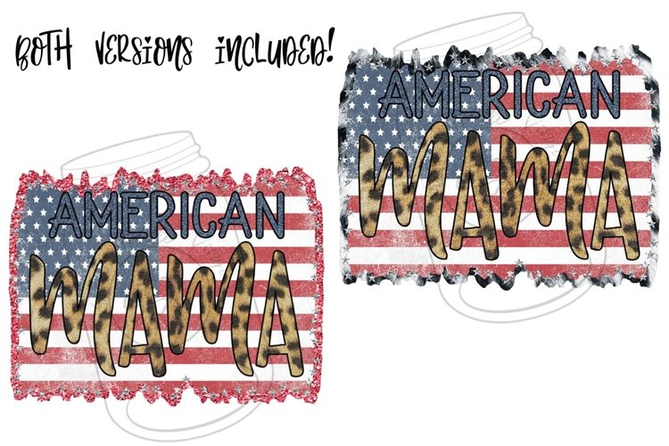 American Mama- Set of 2 Ready to Print Designs example image 1