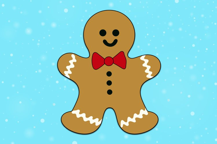 Gingerman Christmas Decoration Cute illustration example image 1