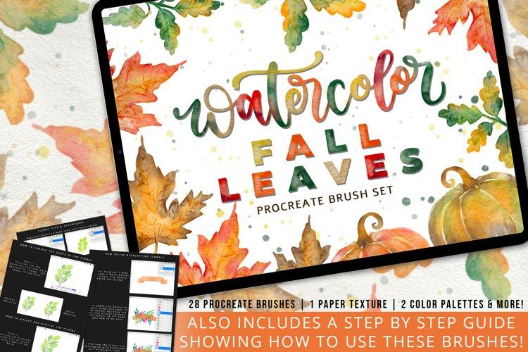 Watercolor Fall Leaves Stamp Brush Set
