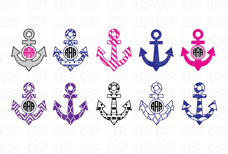 Anchor Bundle SVG Cut Files, Anchor Clipart