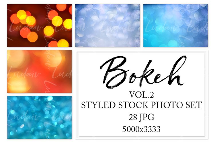 Bokeh. Styled stock photo set. Vol.2