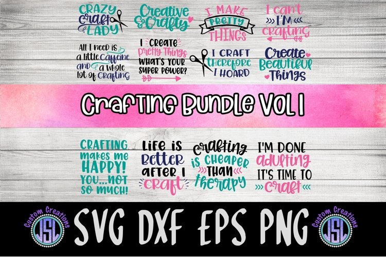 Crafting Bundle of 12   Crafting SVG   SVG DXF EPS PNG example image 1