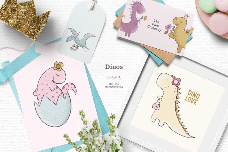 Cute dinosaur clipart | Whimsical kids clipart