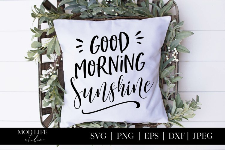 Good Morning Sunshine SVG Cut File - SVG PNG EPS DXF JPEG example image 1